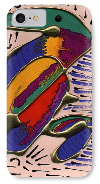 IPhone Case featuring the painting If Only I Could Fly by Angela L Walker