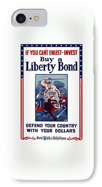If You Can't Enlist Invest IPhone Case by War Is Hell Store
