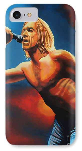 Iggy Pop Painting IPhone Case by Paul Meijering