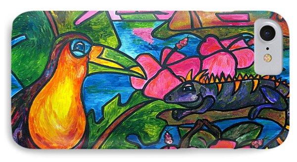 Iguana Eco Tour Phone Case by Patti Schermerhorn