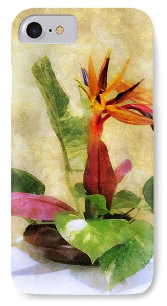 Ikebana Bird Of Paradise IPhone Case by Francesa Miller