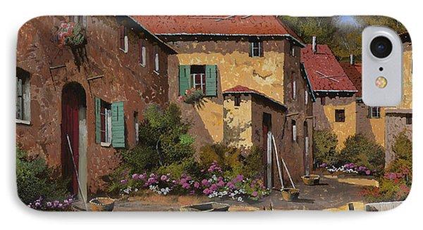 Rural Scenes iPhone 7 Case - Il Carretto by Guido Borelli