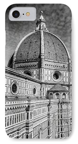 IPhone Case featuring the photograph Il Duomo Florence Italy Bw by Joan Carroll