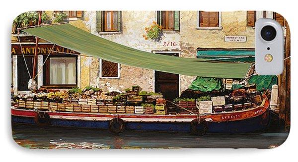 il mercato galleggiante a Venezia IPhone Case by Guido Borelli