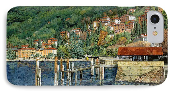 il porto di Bellano Phone Case by Guido Borelli
