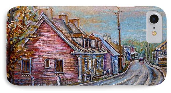 Iles D'orleans Quebec Village Scene Phone Case by Carole Spandau