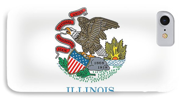 Illinois State Flag IPhone Case by American School