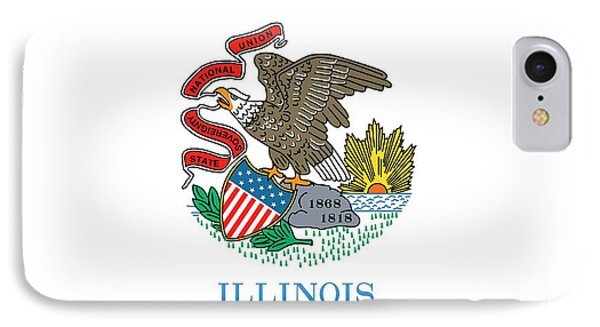 Illinois State Flag IPhone 7 Case by American School