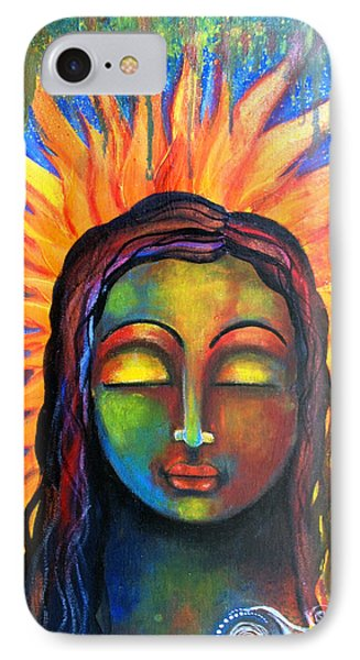 Illuminated By Her Own Radiant Self IPhone Case by Prerna Poojara