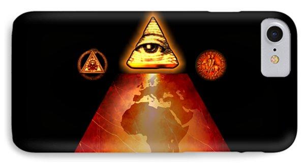 Illuminati World By Pierre Blanchard IPhone Case by Pierre Blanchard