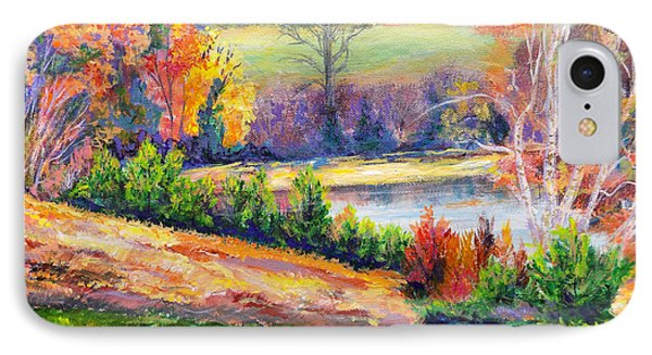 IPhone Case featuring the painting Illuminating Colors Of Fall by Lee Nixon