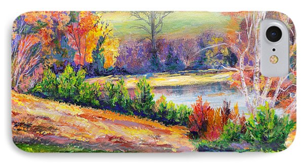 Illuminating Colors Of Fall IPhone Case by Lee Nixon