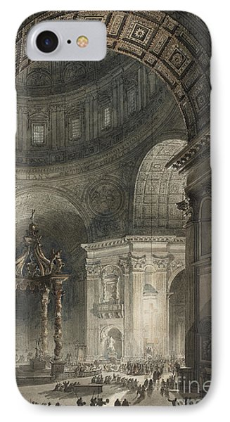 Illumination Of The Cross In St. Peter's On Good Friday, 1787 IPhone Case