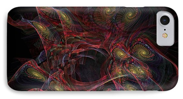 Illusion And Chance - Fractal Art IPhone Case by NirvanaBlues