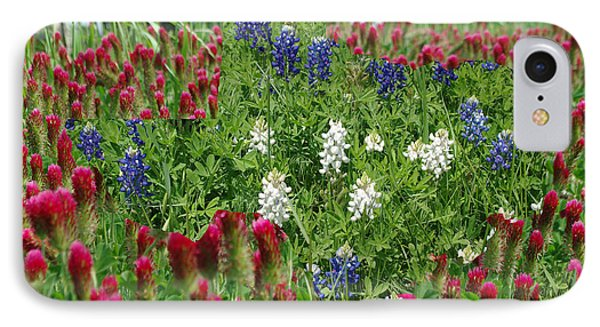 Illusions Of Texas In Red White Blue IPhone Case by Robyn Stacey