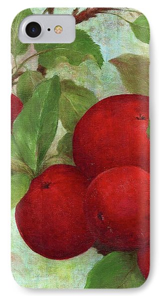 IPhone Case featuring the painting Illustrated Apples by Judith Cheng