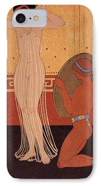 Illustration From Les Chansons De Bilitis IPhone Case by Georges Barbier