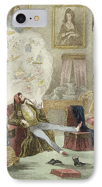 Illustration From Visitation Of A London Exquisite To His Maiden Aunts In The Country IPhone Case by Theo