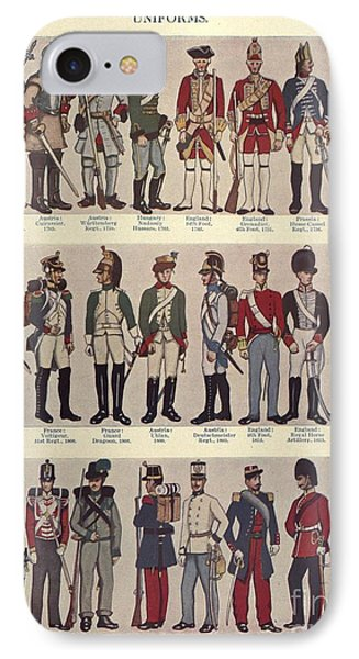 Illustrations Of Military Uniforms IPhone Case by MotionAge Designs