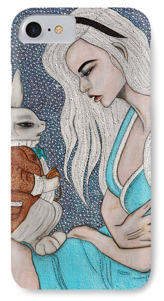 IPhone Case featuring the painting I'm Late by Natalie Briney