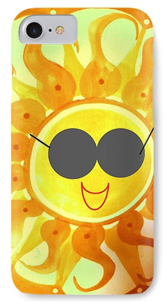IPhone Case featuring the painting I'm Too Hot For My Shades by Denise Fulmer