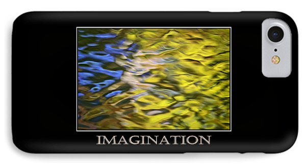 Imagination  Inspirational Motivational Poster Art Phone Case by Christina Rollo