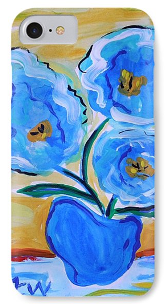 IPhone Case featuring the painting Imagine In Blue by Mary Carol Williams