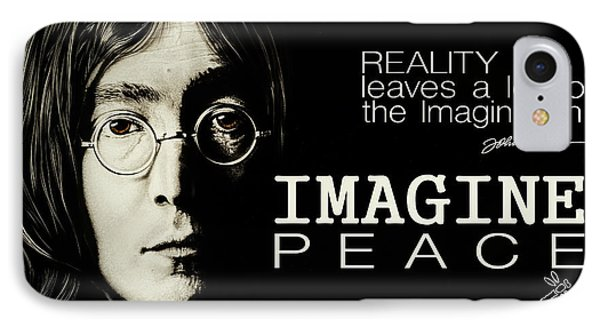 Imagine Peace- John Lennon IPhone Case by Dan Menta