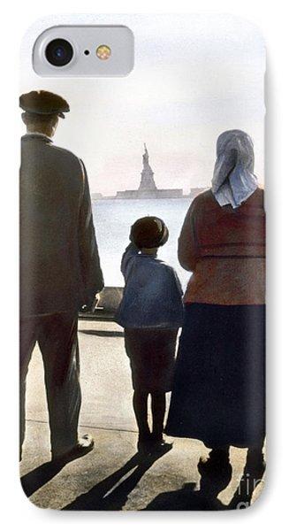 Immigrants: Ellis Island Phone Case by Granger