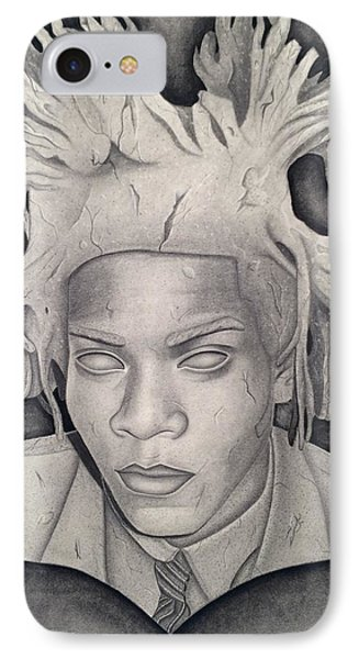 Immortalizing In Stone Jean Michel Basquiat Drawing IPhone Case