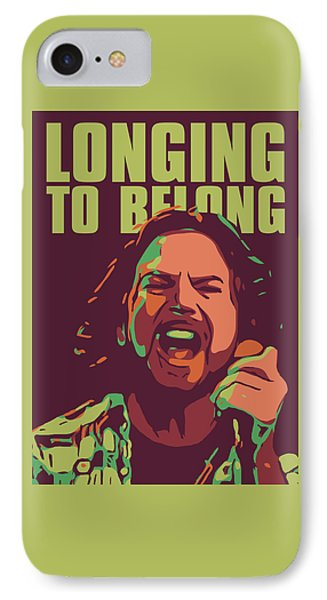 Eddie Vedder IPhone 7 Case by Greatom London