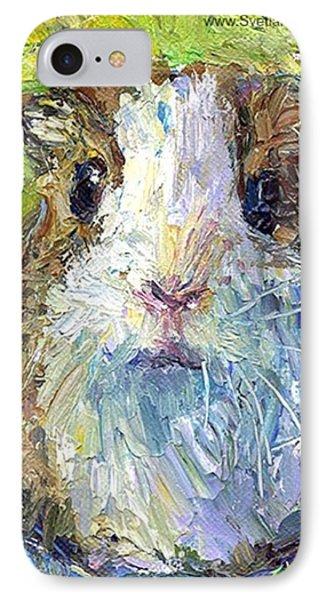 Impasto Impressionistic  Guinea Pig Art IPhone Case