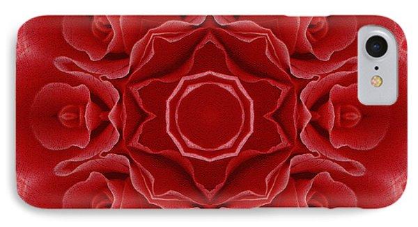 Imperial Red Rose Mandala IPhone Case by Georgiana Romanovna