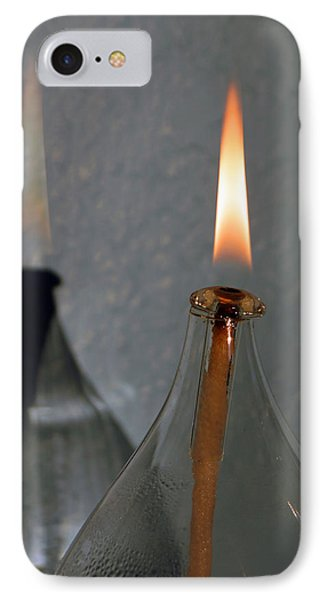 IPhone Case featuring the digital art Impossible Shadow Oil Lamp by Jana Russon