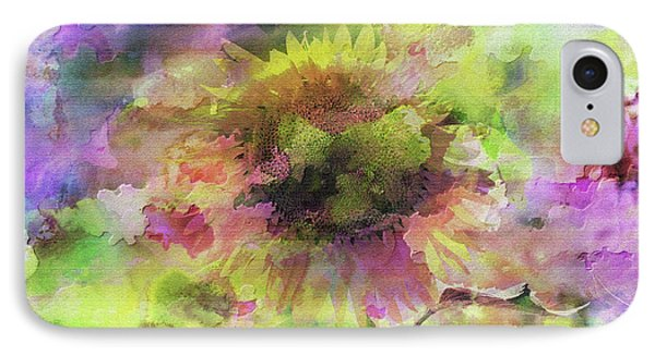 Impression Sunflower IPhone Case by Geraldine DeBoer