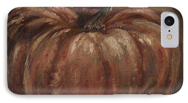 Impressionist Autumn Pumpkin Phone Case by Adam Zebediah Joseph