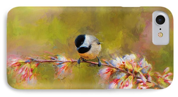 Impressionist Chickadee IPhone Case by Jai Johnson