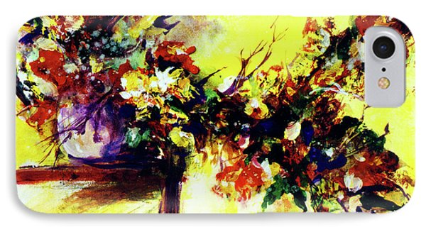 Impressionist Flowers #112, Phone Case by Donald k Hall