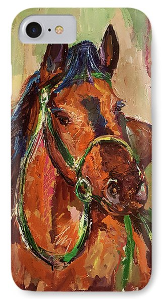 Impressionist Horse IPhone Case by Janet Garcia