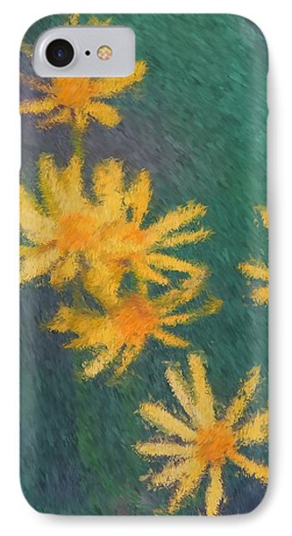IPhone Case featuring the painting Impressionist Yellow Wildflowers by Smilin Eyes  Treasures