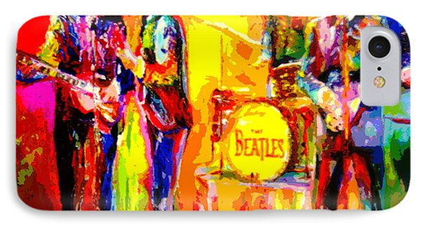 Impressionistc Beatles  Phone Case by Leland Castro