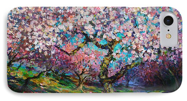 Impressionistic Spring Blossoms Trees Landscape Painting Svetlana Novikova IPhone Case