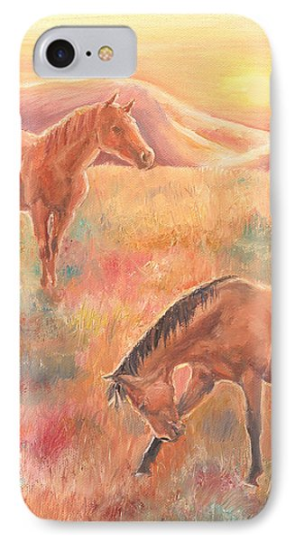 IPhone Case featuring the painting Impressions At Sunset by Elizabeth Lock