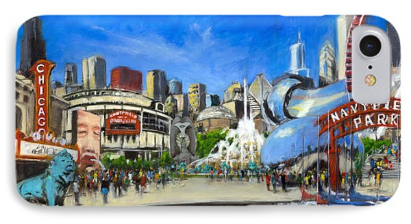 Wrigley Field iPhone 7 Case - Impressions Of Chicago by Robert Reeves