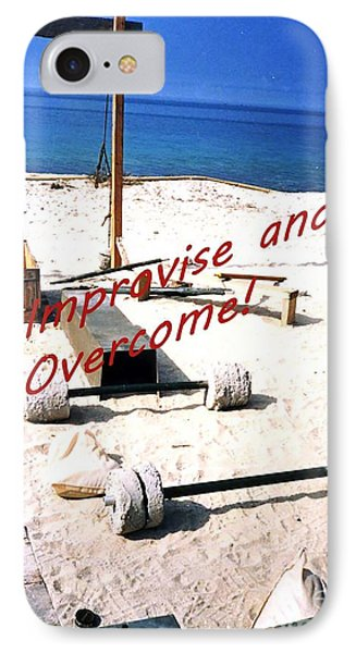 Improvise And Overcome IPhone Case by Broken Soldier