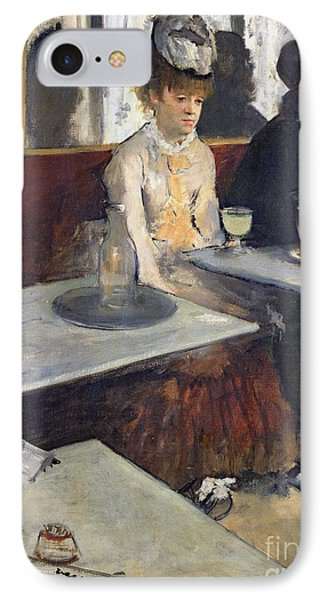 In A Cafe IPhone Case by Edgar Degas