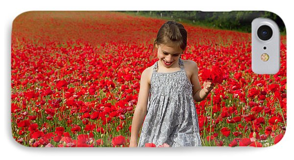 In A Sea Of Poppies IPhone Case by Keith Armstrong