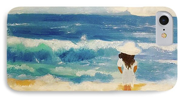 In Awe Of The Ocean Phone Case by Angela Holmes