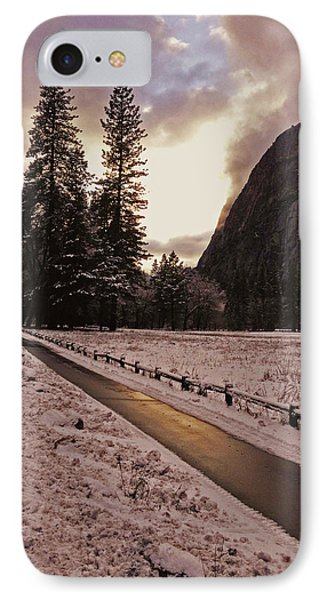 In Between Snow Falls IPhone Case by Walter Fahmy