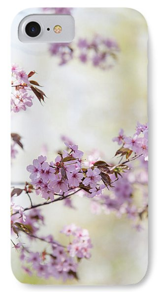 IPhone Case featuring the photograph In Bloom. Spring Watercolors by Jenny Rainbow